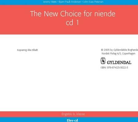 The New Choice for niende Klasse - Elev CD af John Kaas Petersen, Bjørn Paulli Andersen og Jeremy Watts