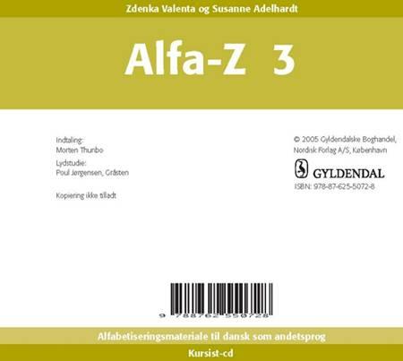 ALFA-Z 3 - Kursist CD af Zdenka Valenta og Susanne Adelhardt