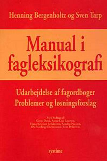 Manual i fagleksikografi af Henning Bergenholtz og Sven Tarp