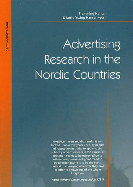 Advertising Research in the Nordic Countries