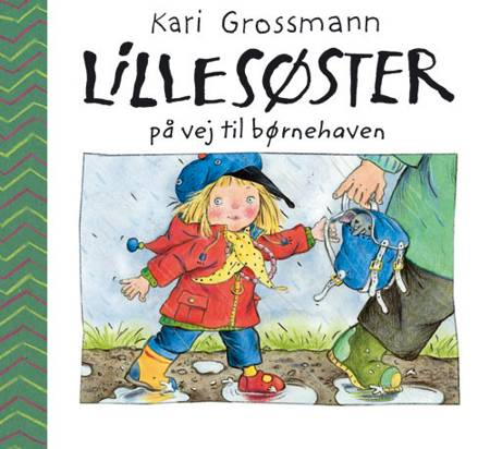 Lillesøster på vej til børnehaven af Kari Grossmann