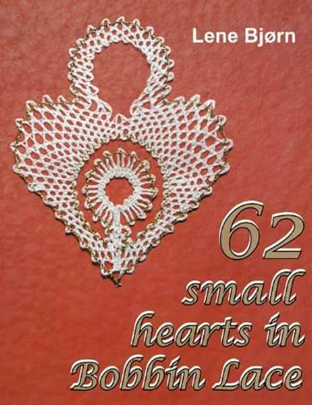 62 small hearts in Bobbin Lace af Lene Bjørn