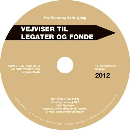 Vejviser til legater og fonde 2012 af Per Billesø og Berit Jylling