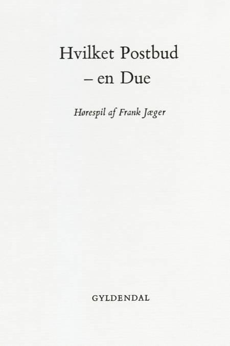 Hvilket postbud - en due af Frank Jæger