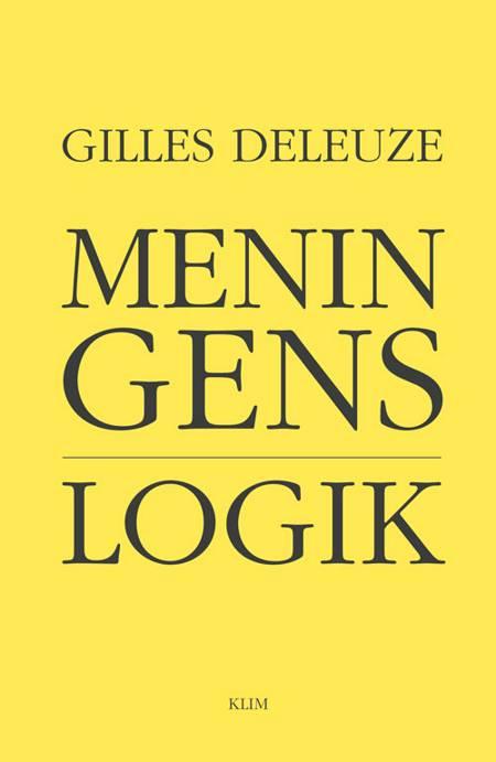 Meningens logik af Gilles Deleuze