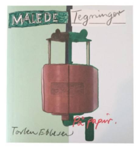 Malede tegninger på papir af Torben Ebbesen