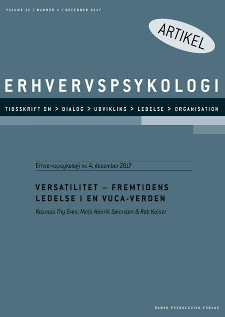 Versatilitet - fremtidens ledelse i en VUCA-verden af Rasmus Thy Grøn, Rob Kaiser og Niels-Henrik Sørensen