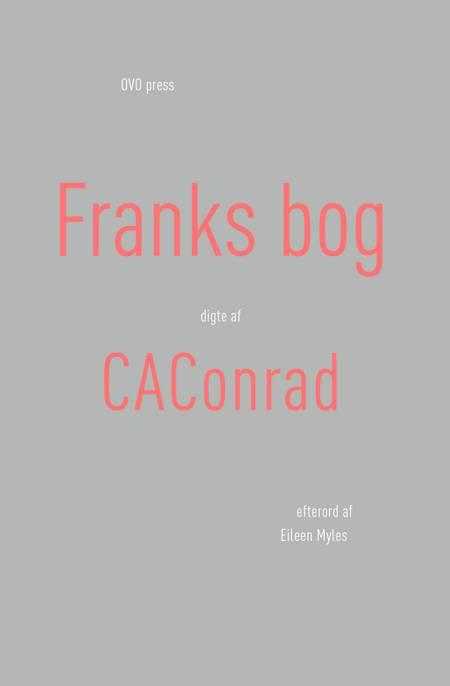 Franks bog af CAConrad