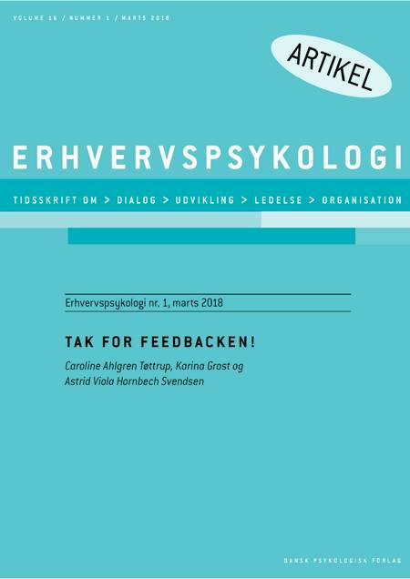 Tak for feedbacken! af Caroline Ahlgren Tøttrup, Karina Grost og Astrid Viola Hornbech Svendsen