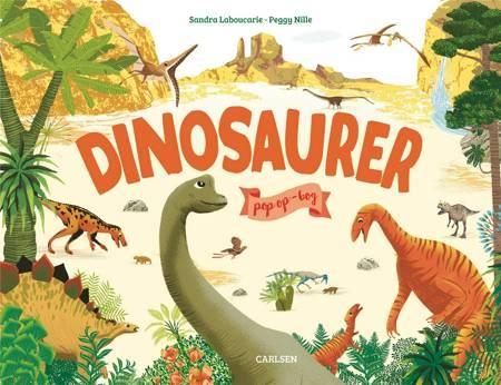 Dinosaurer pop op-bog
