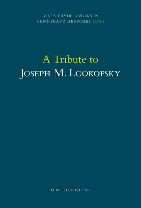 A tribute to Joseph M. Lookofsky af Mads Bryde Andersen og René Franz Henschel