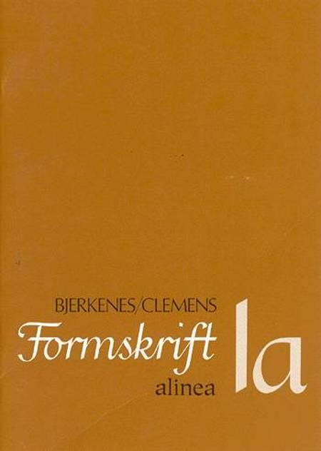 Formskrift af C. Clemens og Alvhild Bjerkenes