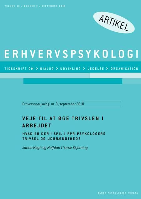 Veje til at øge trivslen i arbejdet af Janne Høgh og Halfdan Thorsø Skjerning