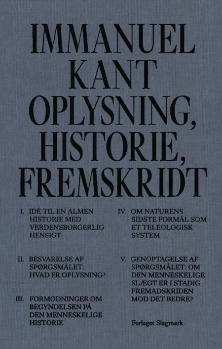 Oplysning, historie, fremskridt af Immanuel Kant