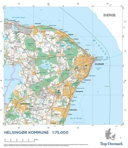 Trap Danmark: Kort over Helsingør Kommune af Trap Danmark