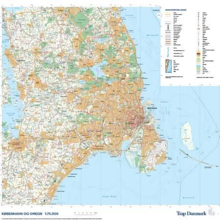 Trap Danmark: Kort over København og omegn af Trap Danmark