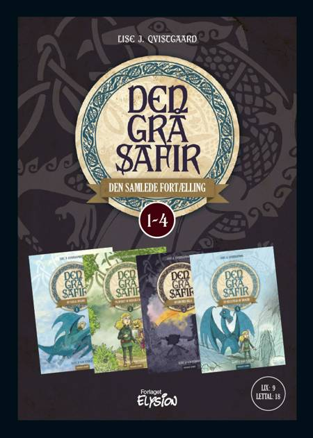 Den Grå Safir 1-4 - samlebind af Lise J. Qvistgaard