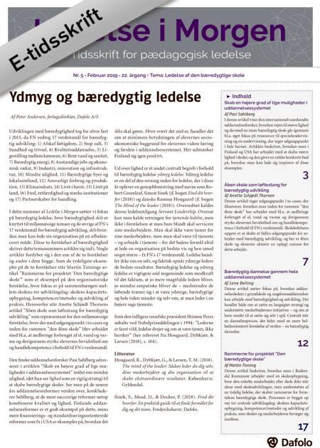 Ledelse i Morgen Nr. 5. - Februar 2019 (E-tidsskrift, pdf) af Peter Andersen, Pasi Sahlberg og Anette Scjødt Thorsen m.fl.