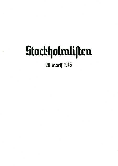 Stockholmlisten af De Illegale Organisationer i Danmark
