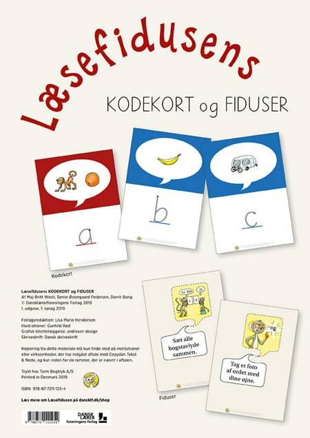 Læsefidusens kodekort og fiduser af Maj-Britt Westi og Bente Østergaard Pedersen og Dorrit Bang