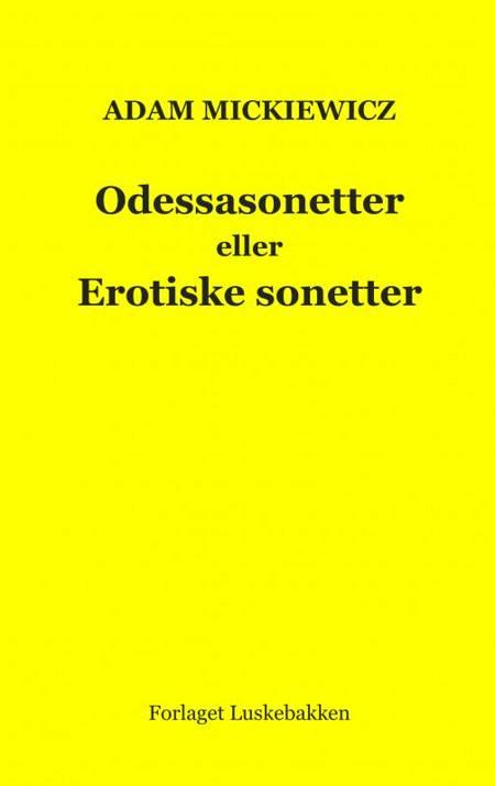 Odessasonetter eller Erotiske sonetter af Adam Mickiewicz