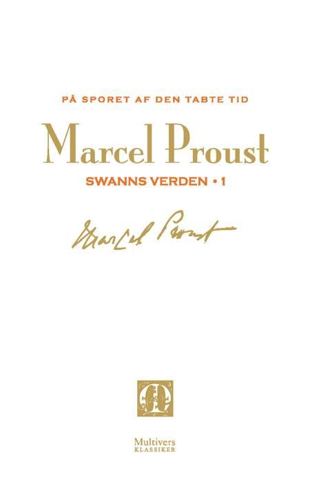 På sporet af den tabte tid; Swanns verden 1-2 af Marcel Proust