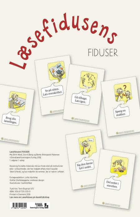 Læsefidusens Fiduser af Maj-Britt Westi, Dorrit Bang og Bente Østergaard Pedersen