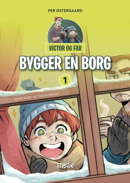 Victor og far bygger en borg af Per Østergaard