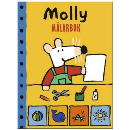 Molly målarbok af Hjelm Förlag