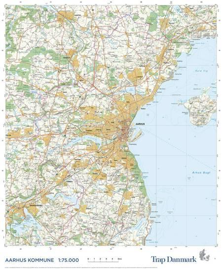 Trap Danmark: Kort over Aarhus Kommune af Trap Danmark