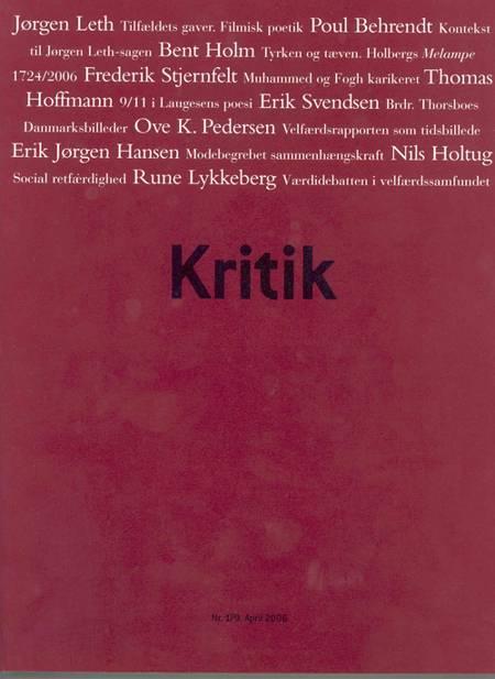 KRITIK, 39. årgang, 179 af Lasse Horne Kjældgaard og Frederik Stjernfelt
