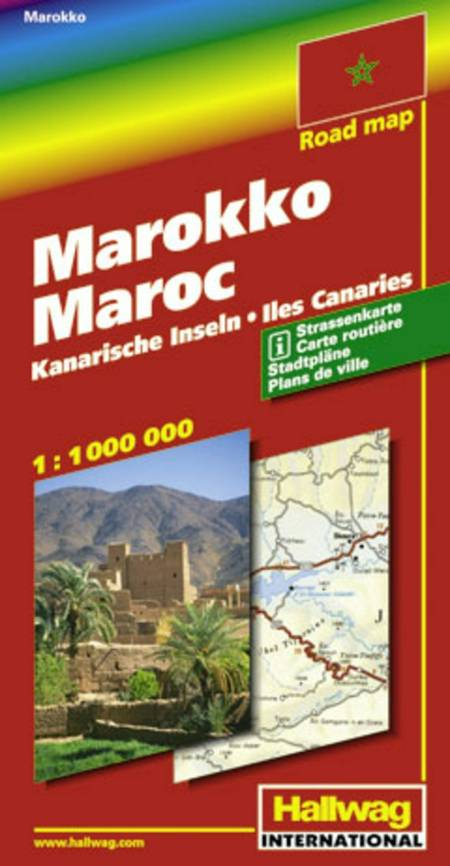 Hallwag, vejkort, Marokko/Kanariske øer