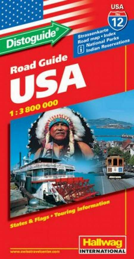 Hallwag, vejkort USA nr. 12: USA m/ distoguide