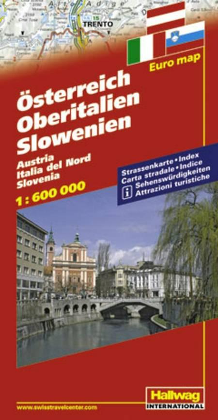 Hallwag, vejkort, Østrig/Norditalien/Slovenien