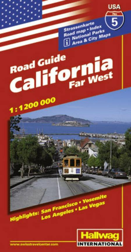 Hallwag, vejkort USA nr. 05: Californien/Far West