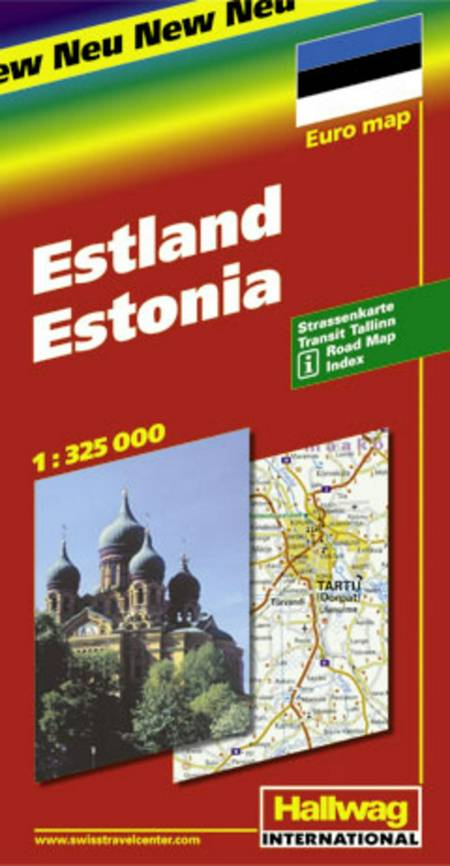 Hallwag, vejkort, Estland