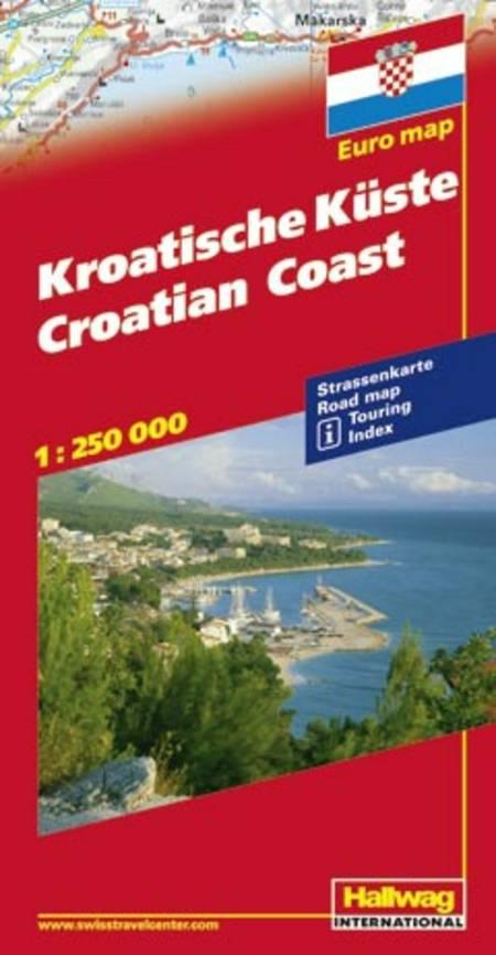 Hallwag, vejkort, Kroatien Kyststrækningen