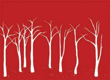 Jæger i skov af Vibe Bredahl
