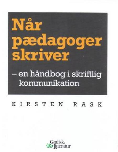 Når pædagoger skriver af Kirsten Rask