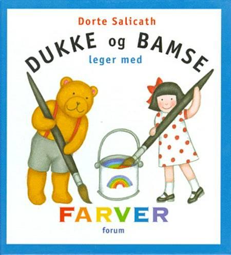 Dukke og Bamse leger med farver af Dorte Salicath
