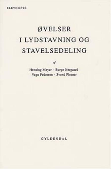 Øvelser i lydstavning og stavelsedeling af Henning Meyer