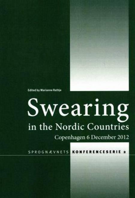 Swearing in the Nordic countries af Eli-Marie Drange, Anna-Brita Stenström og Ingrid Kristine Hasund m.fl.