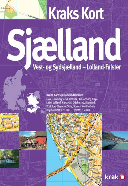 Kraks kort Sjælland