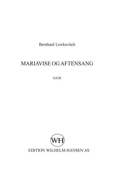 Mariavise og Aftensang af Bernhard Lewkovitch
