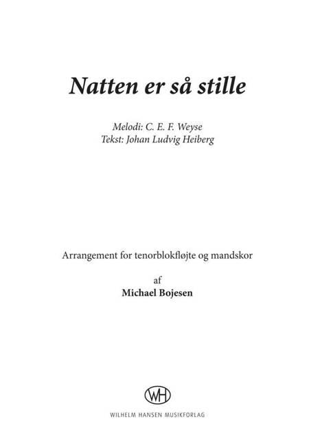 C. E. F. Weyse: Natten er så stille af Michael Bojesen