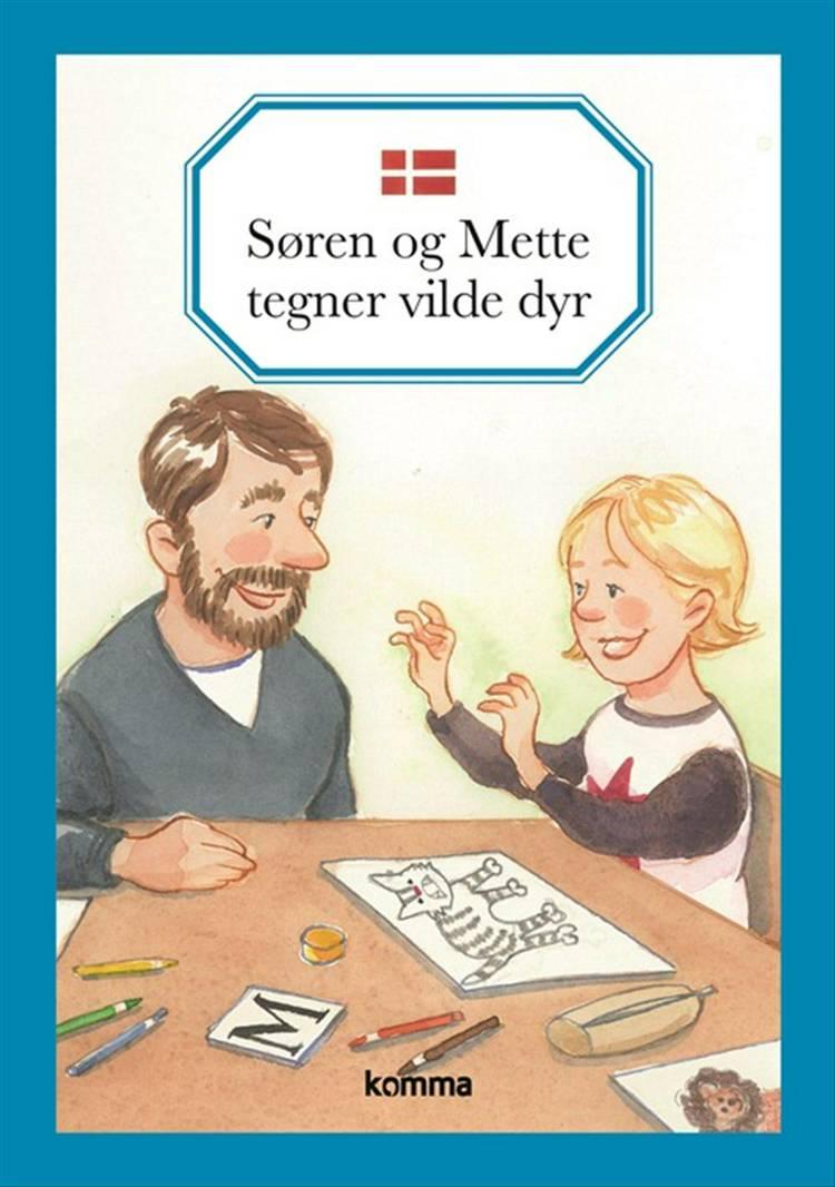 Søren og Mette tegner vilde dyr af Kirsten Koch Jensen