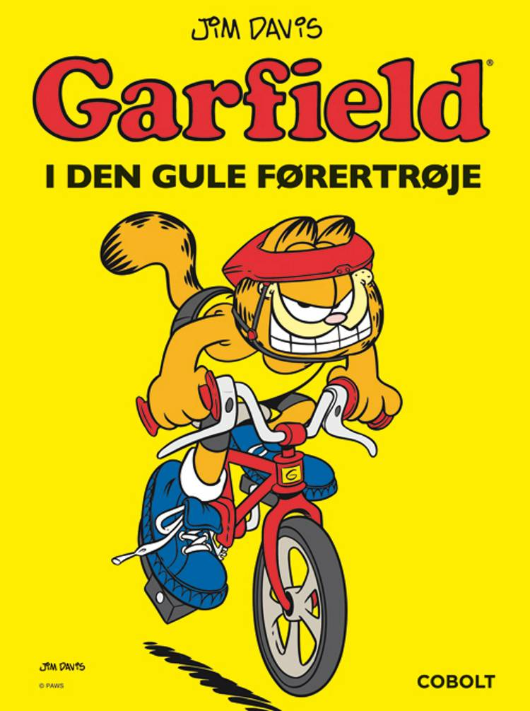 Garfield i den gule førertrøje af Jim Davis
