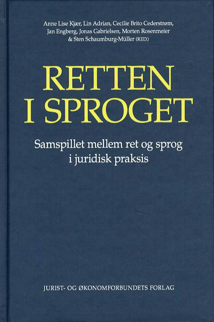 Retten i sproget af Lin Adrian, Anne Lise Kjær og Cecilie Brito Cederstrøm m.fl.