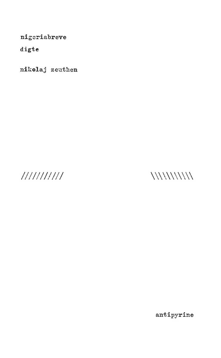 Nigeriabreve af Nikolaj Zeuthen