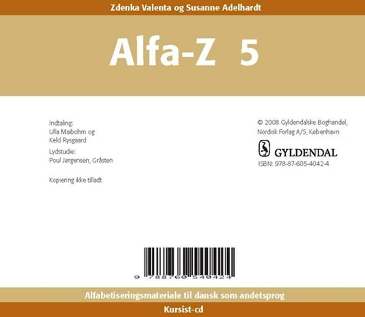 Alfa-Z 5 Kursist-cd af Zdenka Valenta og Susanne Adelhardt